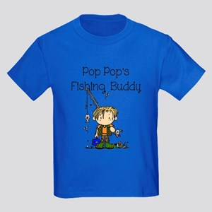 Pop Pop's Fishing Buddy Kids Dark T-Shirt